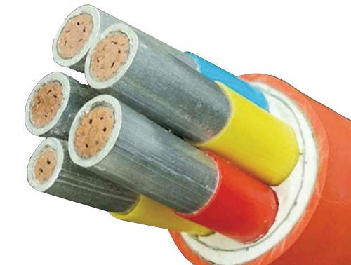 云母带绕包绝缘氧化膜挤出填充防火电缆