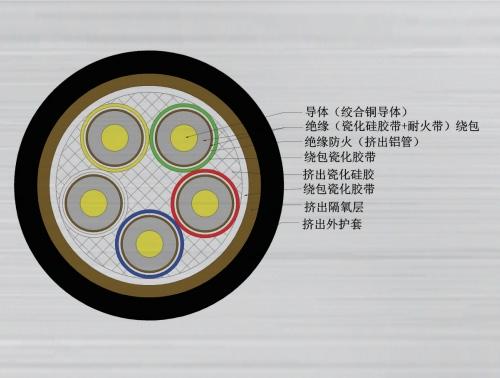 黑龙江云母带绕包绝缘氧化膜挤出填充防火电缆